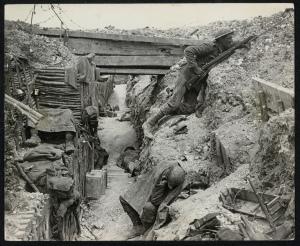 Från västfrontens skyttegravar. Photo: Flickr