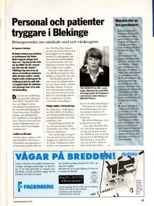 Artikel om bröstcancerforskning 1995.